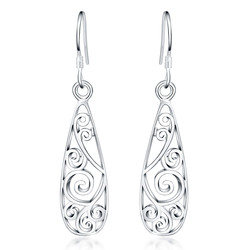 fc867139a Christmas gift hot sale silver plated Retro charms women Lady flower stud  earring jewelry best gift lowest price LE018