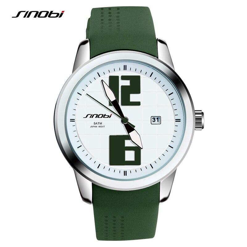 SINOBI Top Luxury Brand Fashion Sport Watch Women Rubber Watchband Females Clock Ladies Quartz Wristwatches 2017 Montre Femme<br>