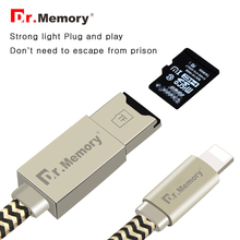 Dr.Memory For iPad/iPhone 5 5s 6s 7 7plus Micro SD Card Reader Multifunctional Charging Cable For iPhone OTG Memory Card Reader(China)