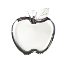 304 Stainless Steel Creative Apple&Heart Shape Plate Mirror Polished Fruit Snack Flat Dish Solid Plate(China)