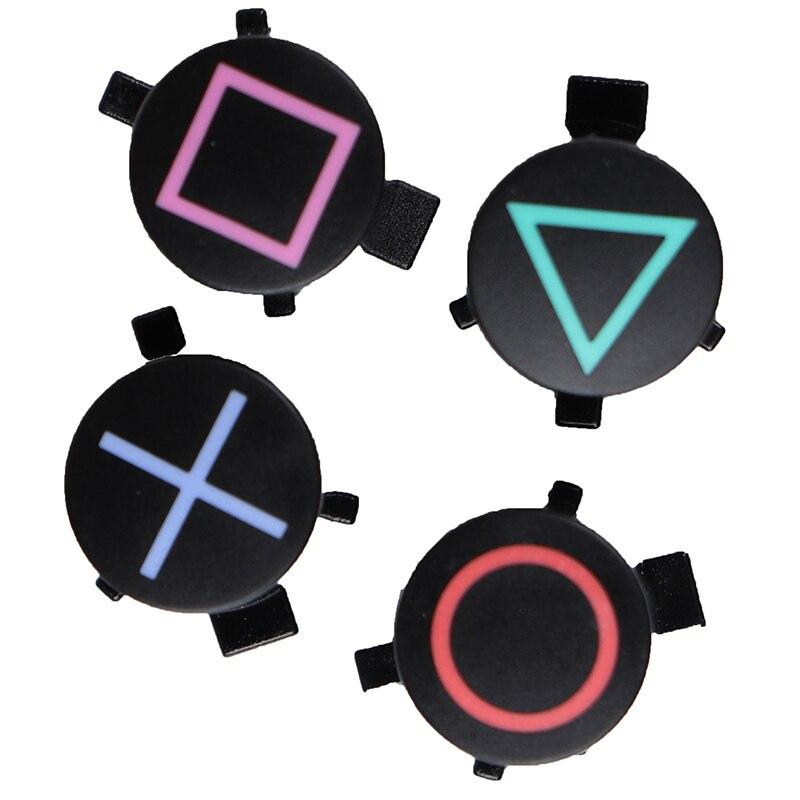 4pcs/set Plastic Button ABXY Controller Button Repair Part Replacement For PS4
