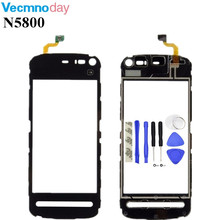 Vecmnoday Original Touchscreen For Nokia 5800 N5800 Sensor Touch Screen Digitizer Front Glass Free Shipping + tools(China)
