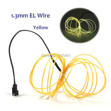 4Meters Fascinating Yellow 1.3mm Led Strip Light Up Rope Tube 3V Inverter with Function of Steady On/Flashing for DIY Toy,Craft