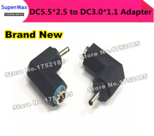 Free shipping via DHL/Fedex  500PCS/LOT   DC Notebook Adapter Plug DC5.5 * 2.5 mm female to DC3.0 * 1.1 male DC Elbow