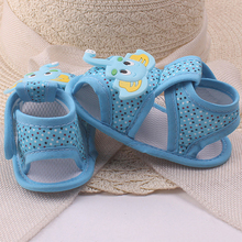 Baby Girl Boy Summer Cartoon Elephant Pattern Soft Sole Shoes Toddler