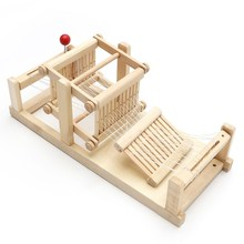 Chinese Traditional Wooden Table Weaving Loom Machine Model Hand Craft Toy Gift For Children Adult(China)