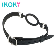 Buy IKOKY Muzzle Ring Oral Fixation Ball Mouth Gag SM Bondage Strap Sex Toys Products Adult Games Plug Married Couples Harness