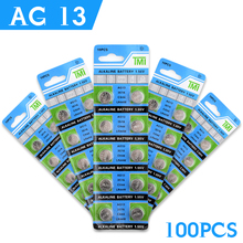 100% Brand New 100pcs AG13 LR44 357A S76E G13 Button Coin Cell Battery Batteries 1.55V Alkaline EE6258