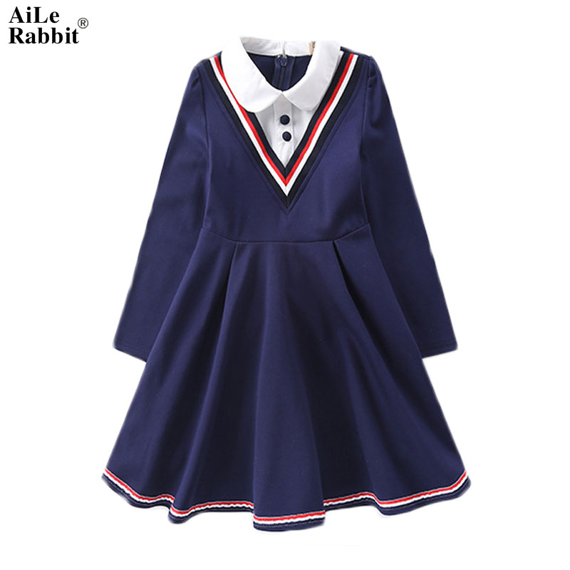 2017 Girls Dresses Autumn Princess Dresses Childrens Long Sleepless Spring and Autumn In The Big Korean Version of The School<br>