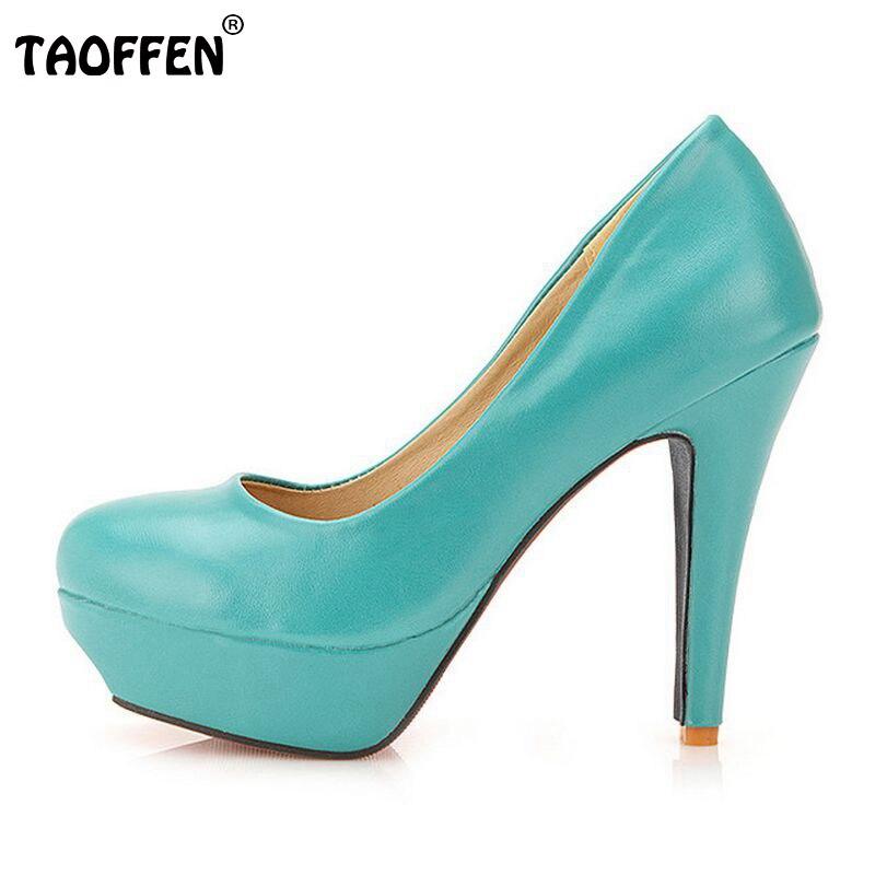 TAOFFEN free shipping high heel shoes women sexy dress footwear fashion lady female pumps P13066 hot sale EUR size 32-44<br>