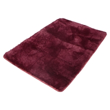 Fluffy Anti-skid Shaggy Area Rug Yoga Carpet Home Bedroom Floor Dining Room Mat claret red