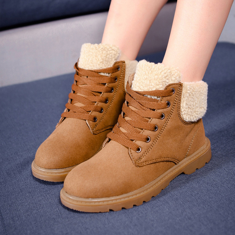 2016 New Women Boots Suede Ankle Short Boots High Top Women Casual Shoe Fashion Martin Womens Boots Warm Winter Shoes For Women<br>