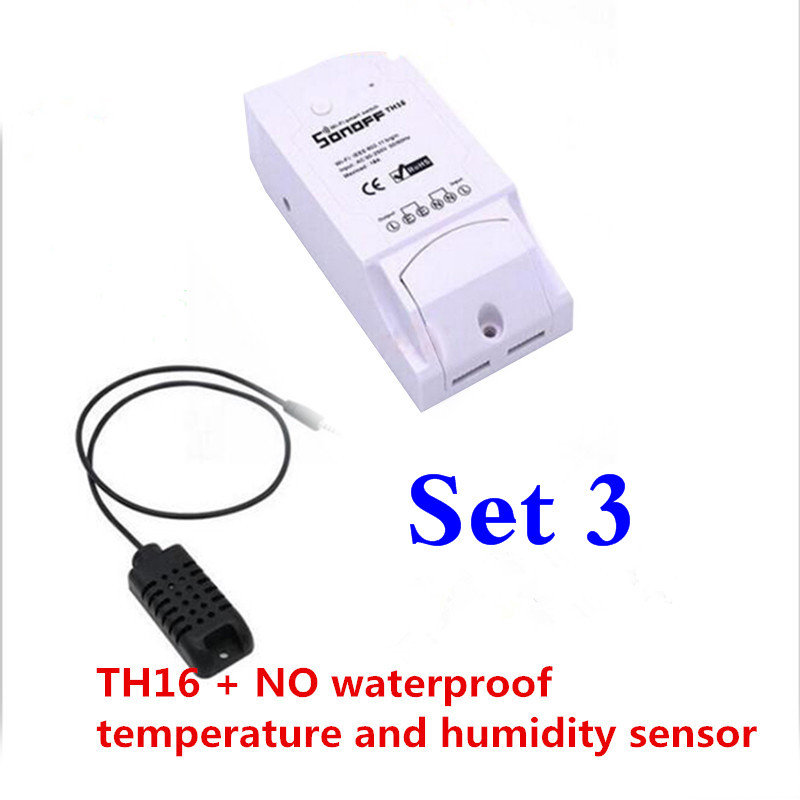image for Newest ITEAD Sonoff TH10/TH16 WiFi Smart Switch Temperature And Humidi