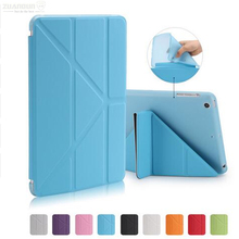 Smart Cover For iPad mini 1 2 3 PU Leather Transparent TPU Soft Case For iPad mini Transformer Folding Cross Smart Auto Sleep