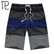 New Fast Drying Mens Board Shorts Beachwear Striped Mens Shorts Sports Running Jogger Surf Shorts Men Boardshorts Male Swimsuit