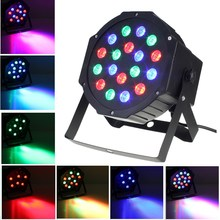 Voice Control Mode Laser Projector Auto 18W RGB LED Stage Lighting Effect Night Lamp DMX-512 PAR Party Disco KTV DJ Garden Bar(China)