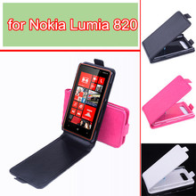 newest phone case for Nokia Lumia 820 Baiwei brand luxury flip pu leather case cover for Nokia Lumia 820 open up and down