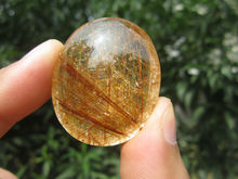 only one!!!!    26g(130 ct) Natural Hair Rutilated Quartz Crystal Pendant Cab China YARC025