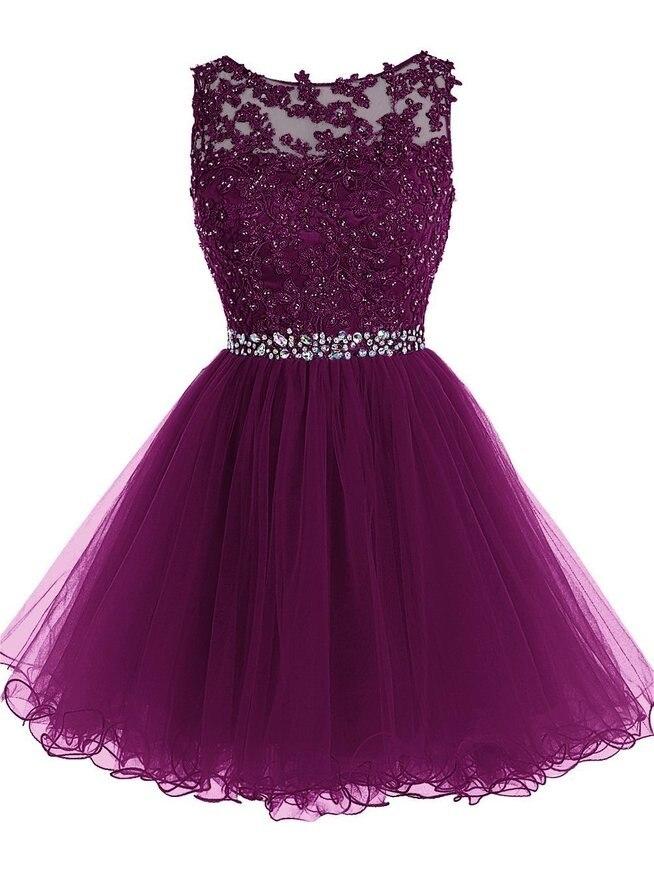 Perfecto Vestido Corto De Graduación De Color Rosa Bebé Ornamento ...
