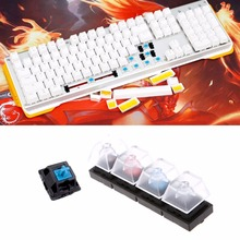 Mechanical 4/6/9 Keyboards Switch Translucent Clear Black/Blue/Brown/Green/Gray/Red for Cherry MX(China)