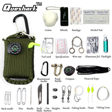 29 1 Outdoor EDC Paracord Survival Kit New SOS Emergency Gear Camping Hunting Green Useful Tools - Rattlesnake Ballistic Store store