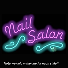 Nail Salon Neon Sign Neon Beer Pub Recreation Room Windows Sign Neon Signs Club Display Advertising Great Gifts 32x20(China)