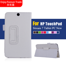 "High Quality Fashion Luxury Ultra Leather Stand Case Cover For 7"" HP Stream 7 Tablet PC New Free Shipping #LR17"