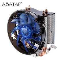 CPU Cooler Pure Copper Double Heat Pipe CPU Radiator Brass Tower CPU Fan Cooling System For Intel 775/1155/1156/1151/1150/1366(China)