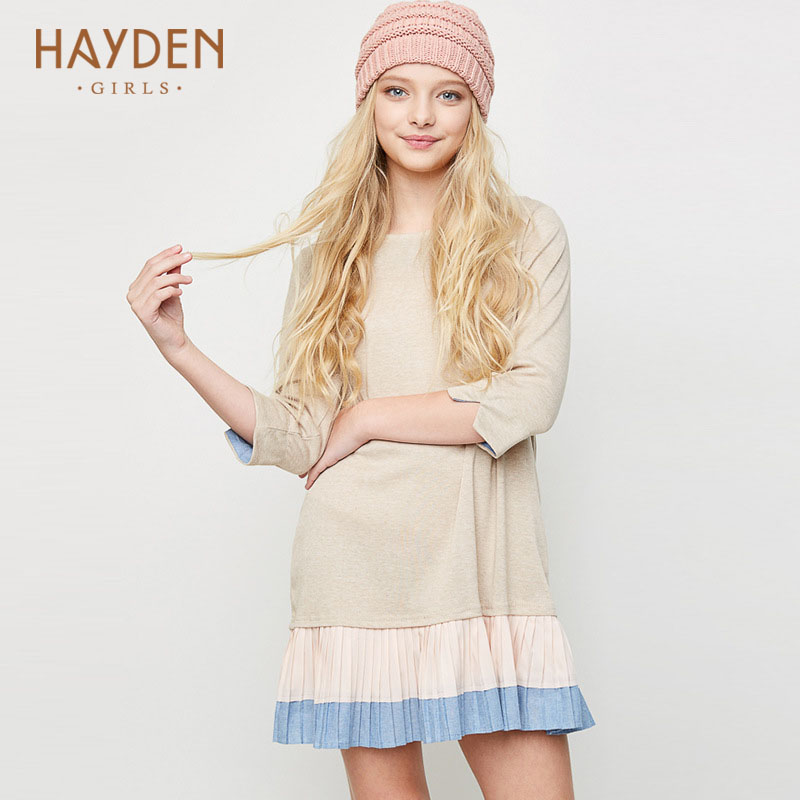 HAYDEN teenage girls dresses 7 9 10 years spring princess costumes designs girl clothes for girls 14Y teens fashionable clothing<br>