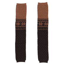 Women Snowflake Leg Warmers Socks (Coffee)