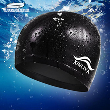 Free size Elastic Waterproof PU Fabric Swim Cap Ears Long Hair Protection Sports Swim Pool Hat Swim Capfor Men & Women(China)