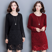 Buy 5xl plus big size women clothing 2016 spring autumn winter korean vestidos new long red black lace dress female A1989 for $24.28 in AliExpress store