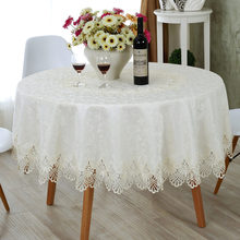 European Round tablecloth embroidery designs elegant lace tablecloths hollow out table cloth runner wedding decoration towel