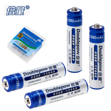 4pcs Doublepow 1.2V 1250mAh AAA Rechargeable Battery LSD Ni-MH NiMH AAA Battery with Radiating Hole for Toy Thermodetector