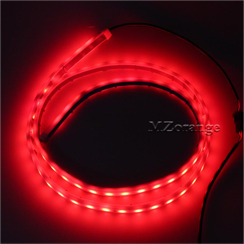 Car-styling DRL LEDs Daytime Running Light Strip Trunk Light with Side Turn Signals Rear lights Car Braking Light For BMW 5