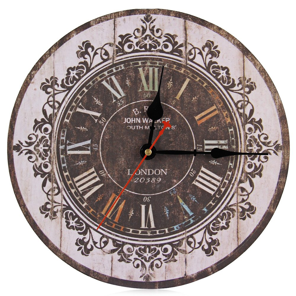 europe stylish retro tracery vintage wall clock rustic shabby chic home office study cafe decoration art