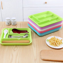 New Kitchen Tools Tableware Drawer Storage Box Cabinet Drawer Cutlery Organizer Container Random Color(China)