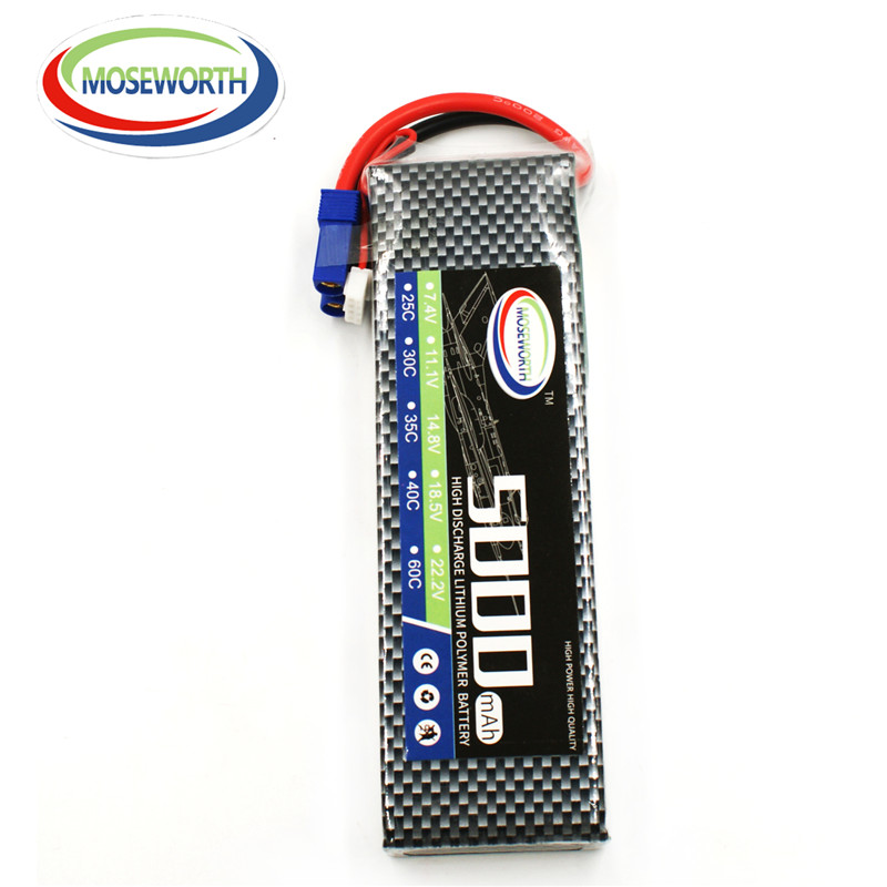 MOSEWORTH 2S RC Lipo Battery 7.4v 5000mAh 60C For RC Aircraft Multicopter Car Boat Drones Helicopter Airplane Li-polymer AKKU 2S<br>