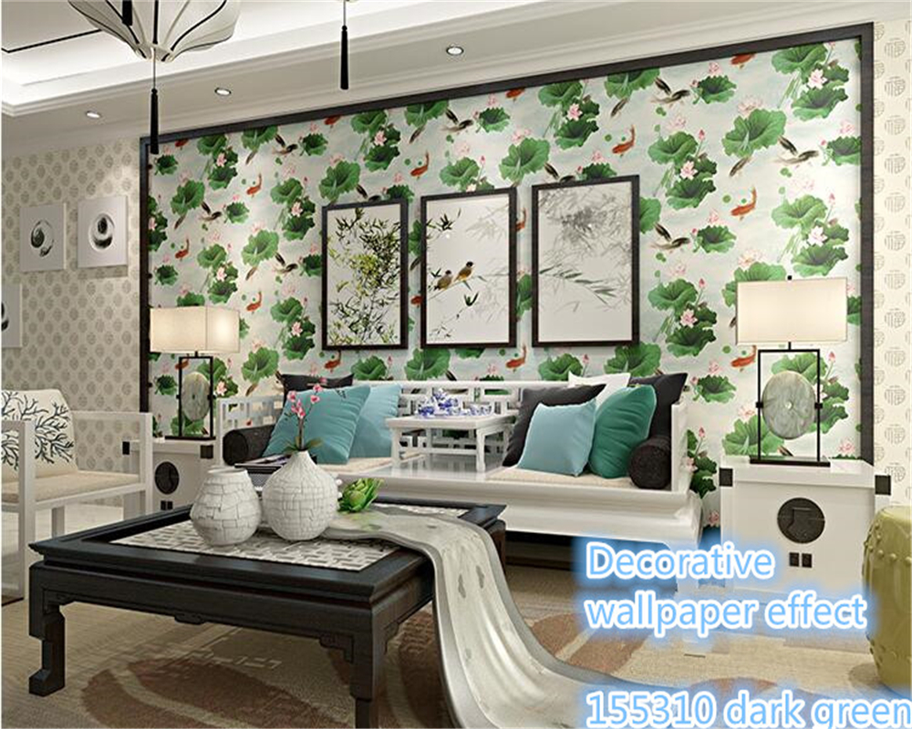 beibehang papel de parede wallpaper High quality fashion PVC beautiful creative eye care lotus living room bedroom TV wall paper<br>