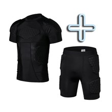 Men Runing Clothes Rugby Jersey  + Shorts Crushproof  Protective Clothes Short Sleeve Anti-Hurt Clothing Equipment Sportwear