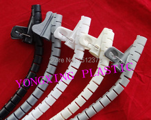 1.5M/bag 15mm new spiral wrapping bands with clamp wire cable Blister packge(China)