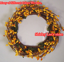 "Hot Sale!!! (120pcs/lot) X 4"" Pip Berry Candle Ring / Wreath 11 Colors For Selection *FREE SHIPPING *(China)"