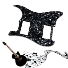 1PC 3Ply Black Pearl Guitar Pickguard For Stratocaster FS 2 HH Humbucker Guitar Parts(China)