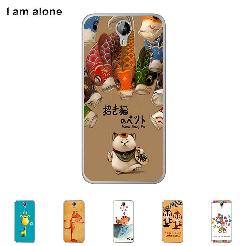 "Soft TPU Silicone Case Homtom HT3 HT 3 5.0"" High Mobile Phone Cover Mask Color Paint Skin Protective Free"