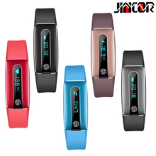 JINCOR 17 new HB02 double-sided USB charging SmartBand HR heart rate test smart bracelet with wrist movement Bluetooth smart