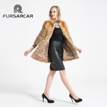 Real Fur Coats New Women Outwear Winter Warm Thick Natural Red Fox Fur Fur Long Jacket Female Genuine Fox Fur Coat BF-C0302