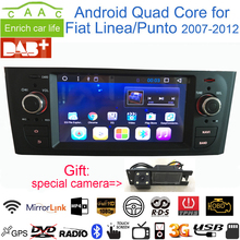 "Dycaion Android 6.0 1G/2G RAM GPS Navigation Stereo 6.1"" Car DVD Multimedia for Fiat Linea/Punto 2007-12 with Radio/BT/RDS/WIFI(China)"