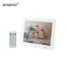 "Andoer 10"" LCD Digital Photo Frame Desktop Multifunctional  with MP3 MP4 E-book Calendar Clock Function with Remote Controller"