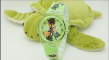 Cartoon Ben 10 ten Child Girls Kids Wrist Watch 10 Colors Analog fashion watches wristwatch Drop shop waterproof(China)