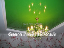 Green  Glossy Stretch Ceilings for Ceiling Decoration/Ceiling Decoration with Falling Lightings